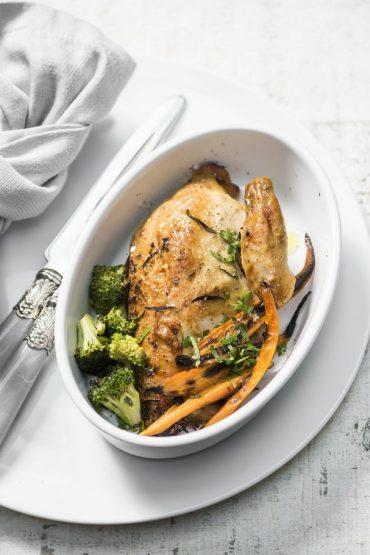 pechugas de pollo rostizadas con vegetales