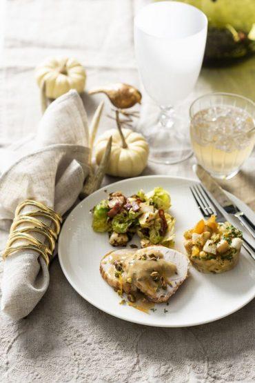 pavo con salsa de pistachios mesa TG 3