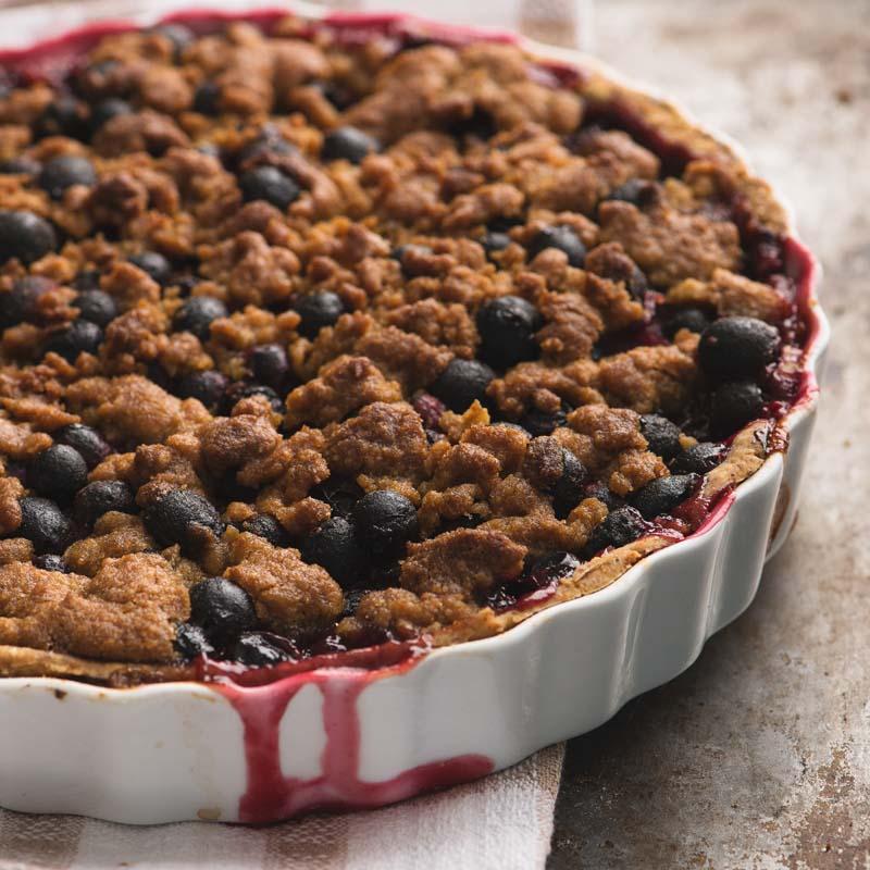 tarta-de-cranberries-con-costra-de-nuez