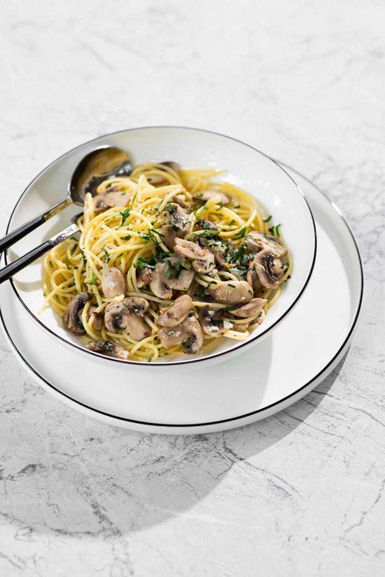 Pasta-con-champignones