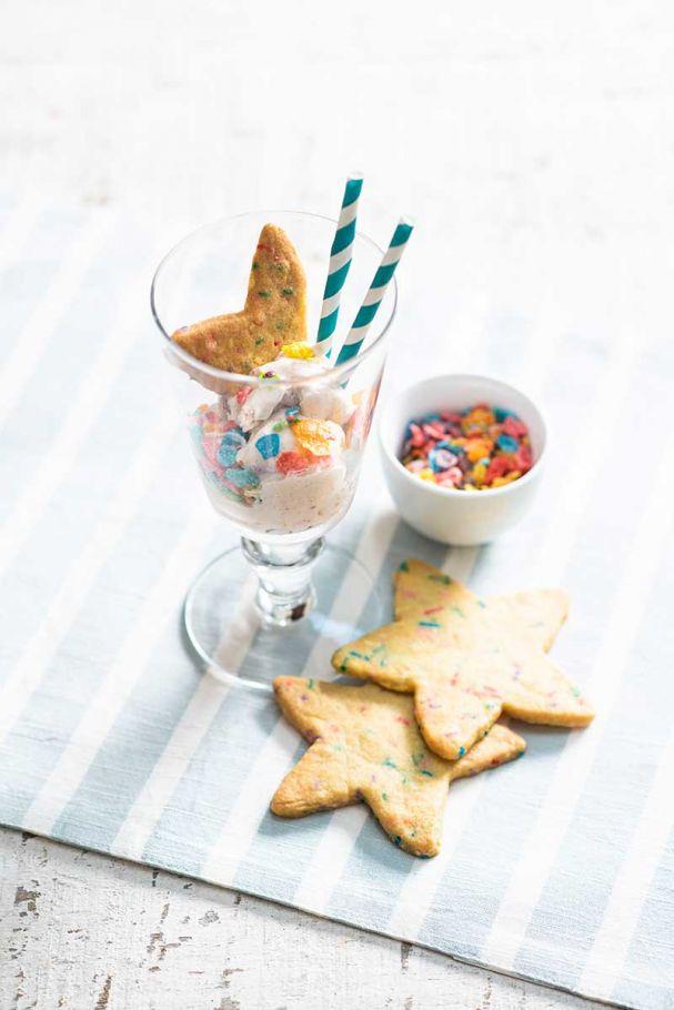 galletas de mantequilla con sprinkles
