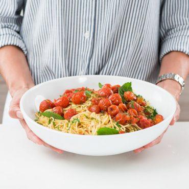 pasta con tomates cherry sq