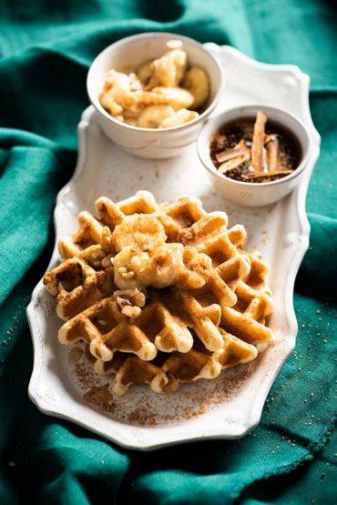 waffles-banano-nuez