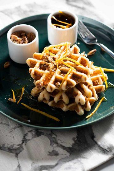 Waffles de pecanas