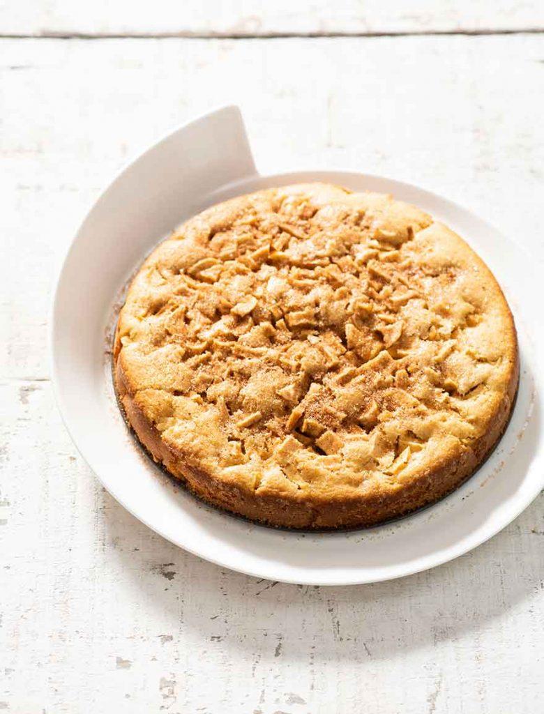 Pastel-de-manzana-con-azúcar-de-canela-1